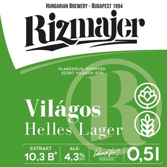 RIZMAJER VILÁGOS LÁGER 0,5 l